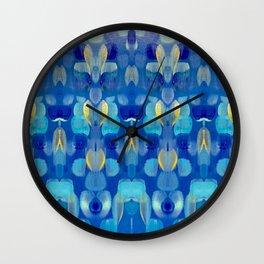 Blue night and gold stars Wall Clock