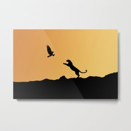 Fight to survive Metal Print