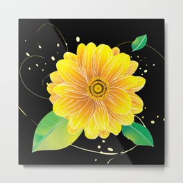 Helianthus Midnight - The Color of Vitality, Intelligence, and Happiness Metal Print
