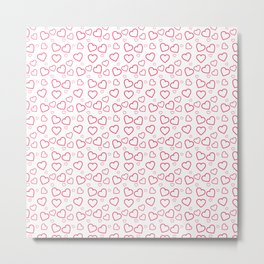 Heart pattern Metal Print
