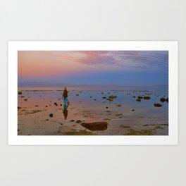 Girl on the Red Sea Art Print