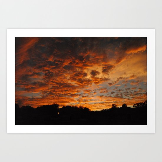 Cloudy Sunset Art Print