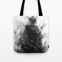 evil Tote Bags featuring Evil by Nechifor Ionut