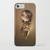 cage iPhone & iPod Cases featuring Gold Cage by José Luis Guerrero