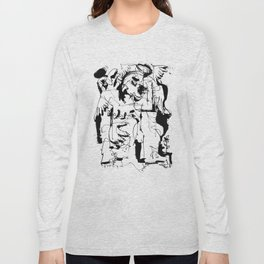 Mourning Angel - b&w Long Sleeve T-shirt