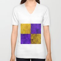lakers V-neck T-shirts featuring LA-kers by Ramo