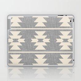 Southwestern Pattern 131 Grey and Beige Laptop & iPad Skin