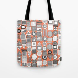 frisson memphis bw orange Tote Bag