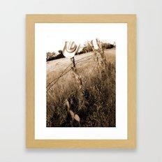 a cowboy's life.  Framed Art Print