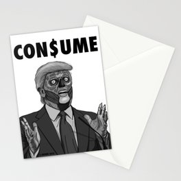 CON$UME: DONALD TRUMP (black and white) Stationery Cards