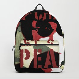 Quote - Let's give peace a chance Backpack