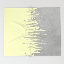 Concrete Fringe Yellow Throw Blanket