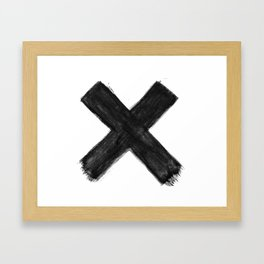 Black X Framed Art Print