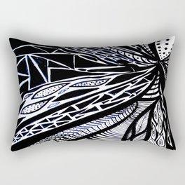 Gaia's Garden in Black & White 3 Rectangular Pillow