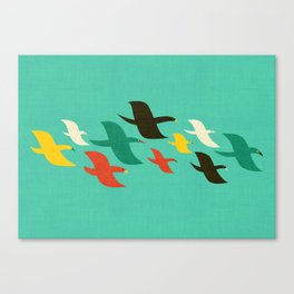 Birds are flying Canvas Print