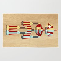 robot Area & Throw Rugs featuring Robot by LindseyCowley