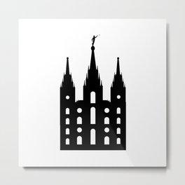 Mormon Style Temple Metal Print