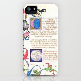 With that sweet moon language iPhone Case