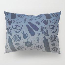 Scuba Dive Underwater Pattern Pillow Sham
