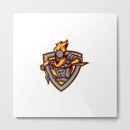 Assasin Mascot Logo Metal Print
