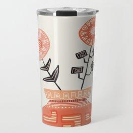 Floral vibes V Travel Mug