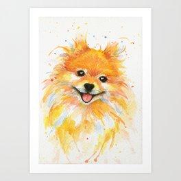 Happy Pomeranian Art Print
