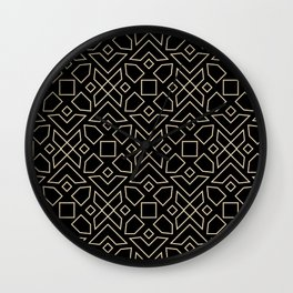 Islamic-African Geometric Pattern Wall Clock