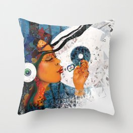 birth of a tune Throw Pillow
