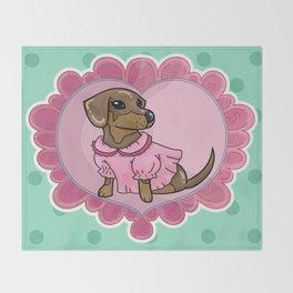 Daschund Cute GAL Throw Blanket