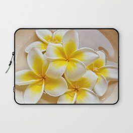 Plumeria Blossoms Laptop Sleeve
