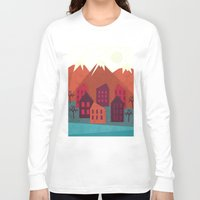 mountains Long Sleeve T-shirts featuring Mountains by Kakel
