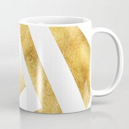 ART DECO VERTIGO WHITE AND GOLD #minimal #art #design #kirovair #buyart #decor #home Coffee Mug