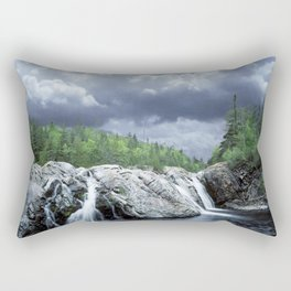 Falls at the Aguasabon River Mouth in Ontario Canada Rectangular Pillow
