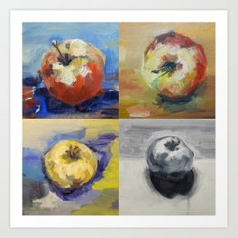 Four Apples a Day Art Print