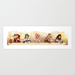 Puella Magi Holy Quintet Tea Party Art Print