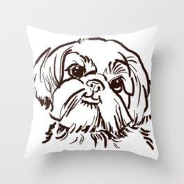 The sweet Shih Tzu dog love of my life! Throw Pillow