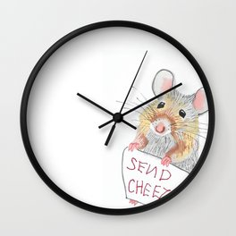 Send Cheese Wall Clock