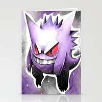gengar Stationery Cards featuring Gengar by DJ990J