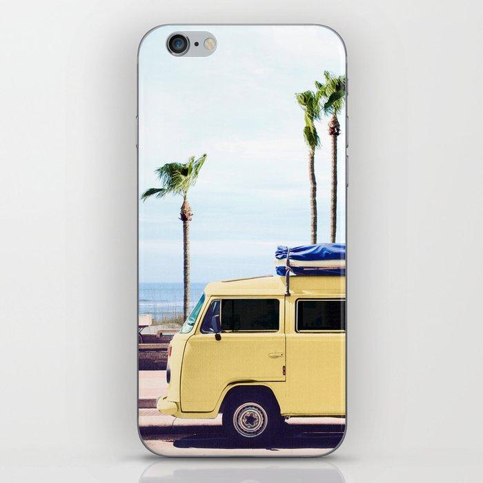 Surfer's Yellow Van iPhone Skin