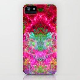Hallucinogenic Hibiscus Flowers iPhone Case