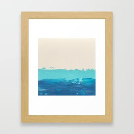 Cool Blue Abstract Framed Art Print