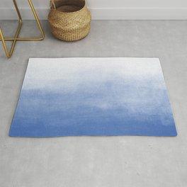 Ombre Paint Color Wash (sky blue/white) Rug