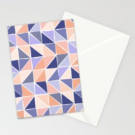 Triangle Geometry in Purple and Coral Stationery Cards