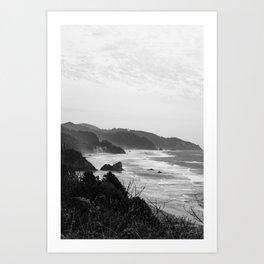 Cannon Beach, OR 2019 - 2417 BW Art Print
