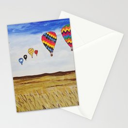 Balloons Across the Amber Waves of Grain  Stationery Cards