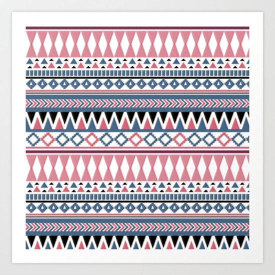 Tribal Triangle #2# Art Print