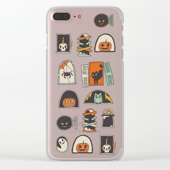 Halloween windows Clear iPhone Case
