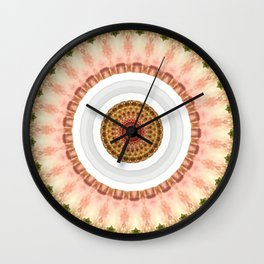 New Color Pyramidal Mandala 67 Wall Clock
