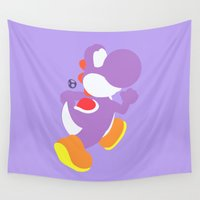 yoshi Wall Tapestries featuring Yoshi(Smash)Purple by samaran