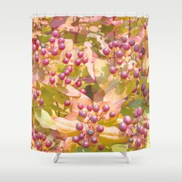 Pattern of red berries Shower Curtain